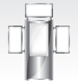 Trade exhibition metal stand vector image
