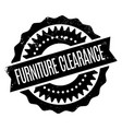 furniture clearance rubber stamp vector image