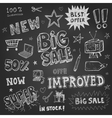 Doodle Frames and design elements on chalk board vector image