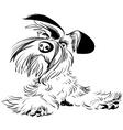 dog sketch vector image vector image