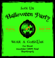 Halloween invitation cameo skull and crossbones vector image vector image