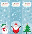 Santa Claus Snowman Tree Banner vector image