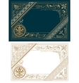 Retro Frame Template Baroque Style vector image vector image