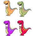 tyrannosaurus dinosaur vector image vector image