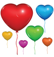Heart Baloon Color set vector image