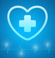 Heart with cross vector image