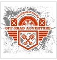 Off-road - grunge emblem and design elements vector image