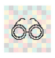pixel icon glasses on a square background vector image