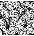 seamless floral graphic pattern vector image
