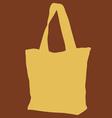 Yellow Cloth Bag vector image