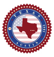 Label sticker cards of State Texas USA vector image