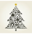 House a pine vector image vector image