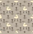 deer flowers seamless pattern vector image