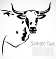 Image of an cow vector image
