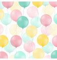 Postcard with colorful balloons vector image