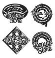 vintage donuts store emblems vector image