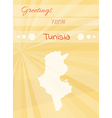 greetings from tunisia vector image