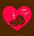 Love coffee vector image vector image