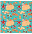 seamless beach accessories pattern vector image vector image