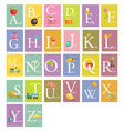 Colorful abc letters vector image