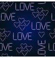 seamless pattern Halogen Love Glowing vector image