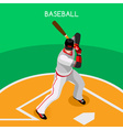 Baseball 2016 Championship Isometric 3D vector image