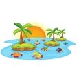fish in a pond vector image vector image