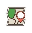 cartoon map world travel pin location vector image