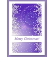 Christmas purple background with snowflakes vector image