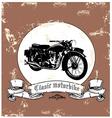 clasic motorbike vector image