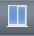 Closed white plastic window vector image