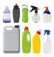 different types of bottles pictures in vector image
