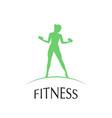 fitness club logotype vector image