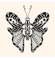 Hand drawn ornamental butterfly vector image