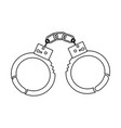 handcuffs police tool security arrest vector image