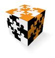 Jigsaw cube vector image