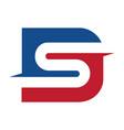 letter ds business logo design vector image
