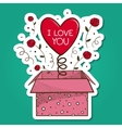 Present box with heart vector image