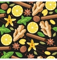 Seamless gourmet spices vector image