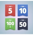 Top rating badges vector image