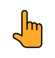 touching or pointing hand flat icon vector image