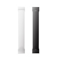 White And Black Blank Foil Packaging Plastic vector image