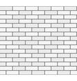 White brick wall seamless texture vector image