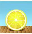 summer lemon fruit vector image