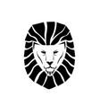 lion face logo vector image vector image