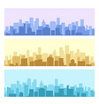 blue and yellow daytime urban cityscape vector image