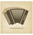 accordion old background vector image