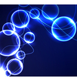 glowing elements vector image vector image
