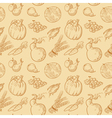 Fruits and vegetables background vector image