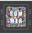 Fashion Print for T-shirt Summer Floral Banner vector image vector image